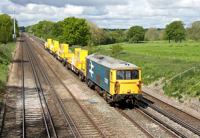 73207 Potbridge 13/05/14 6Y62 Eastleigh to Tonbridge