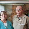 140507 Bathroom JOED VIERA/STAFF PHOTOGRAPHER-Lockport, NY-Sandy and Gary Schuman stand in their  bathroom. May 7, 2014