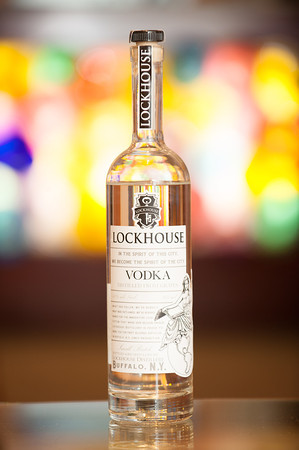 140319 Lockhouse JOED VIERA/STAFF PHOTOGRAPHER-Lockport, NY-A bottle of Lockhouse Vodka at Freedom Run Winery on Mar. 4, 2014.