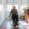 140424 Middleport Barber VIERA/STAFF PHOTOGRAPHER-Middleport, NY- Michael Reale sits on his chair in his barbershop on Main St in Middleport April 24, 2014.