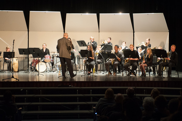 140428 Concert JOED VIERA/STAFF PHOTOGRAPHER-Lockport, NY-The Lockport High School Jazz Ensemble perform in the school  auditorium. April 29, 2014