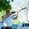 140525 Memorials JOED VIERA/STAFF PHOTOGRAPHER-Lockport, NY-Devil Dogs fire rifles during a memorial day ceremony at Veterans Park, May 25, 2014.