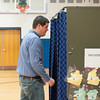 140520 Newfane School Vote JOED VIERA/STAFF PHOTOGRAPHER-Newfane, NY-Jim Scmitt walks into a voting booth during the school board elections inside the Newfane Elementary School gym. May 20, 2014