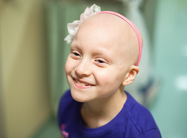 140425 Skyla JOED VIERA/STAFF PHOTOGRAPHER-Buffalo, NY-Skyla Dennis smiles  after visiting one of her new friends at Roswell Cancer Institute. April 23, 2014.