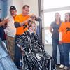 140507 bald for bucks JOED VIERA/STAFF PHOTOGRAPHER-Hartland, NY-12 year old Rachel Hurtgam gets her head sheved for Bald for Bucks. May 7, 2014