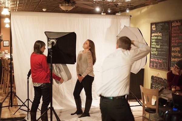 140319 PRIDE PHOTO CLUB JOED VIERA/STAFF PHOTOGRAPHER-Lockport, NY-Joe Mahley photographs Stephanie Preziotte at sweet sixteen cafe on Jan. 28, 2014