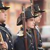 140426 MedinaReenactment VIERA/STAFF PHOTOGRAPHER-Medina, NY-Civil War reenactors march down Main St. April 26, 2014.
