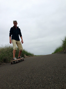 My first time on a skateboard. Very fun!