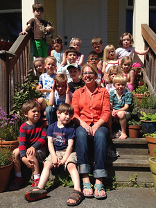 Connor's class field trip to Teacher Cathy's house