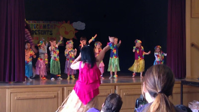 Connor's year-end Enrichment class performance. Hula.