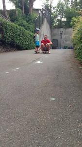 "Connor driveway skateboarding, ""level 4"""