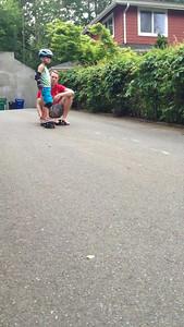 "Connor driveway skateboarding, ""level 5"""