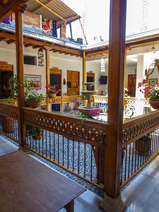 Hotel Barajas courtyard
