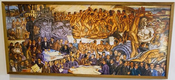 La República - mural en el Palacio Municipal