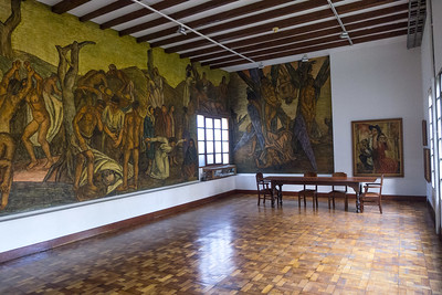 "Studio of the artist with the mural ""Homenaje al Pueblo Antioqueño"" (homage to the people of Antioquia)"