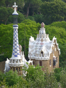 Gaudi's Parc Guell in the Barri de Gracia