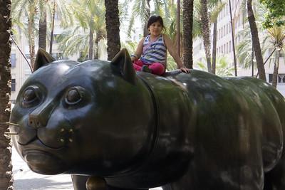 Botero sculpture in the Rambla del Raval