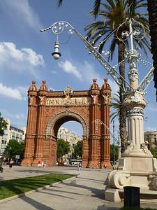 Arco del Triunfo in the Parque de la Ciutadella (1888)