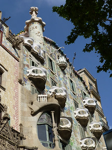 Gaudi's Casa Battló on Passeig de Gracia
