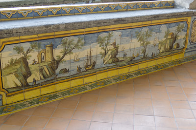 "Tile art in Santa Chiara Cloister (""Maiolica "")"