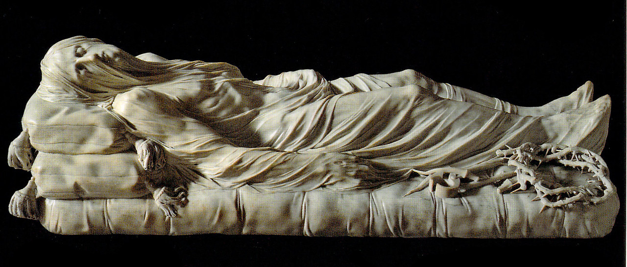 The Veiled Christ, Giuseppe Sanmartino, 1753, in the Sansevero Chapel Museum (scan of a postcard: photos not allowed)