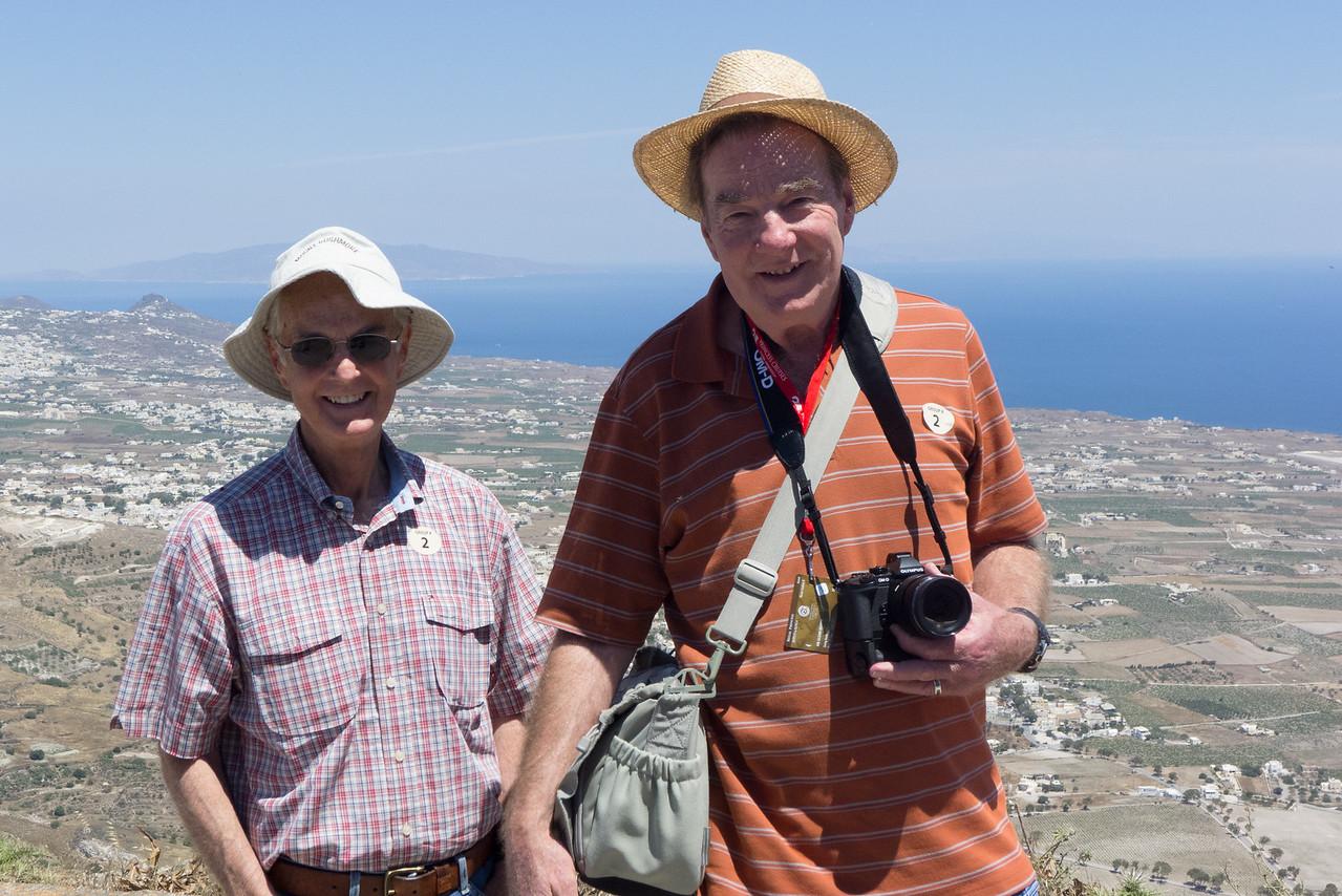 Mac and Glenn atop Mount Prophet Elijah