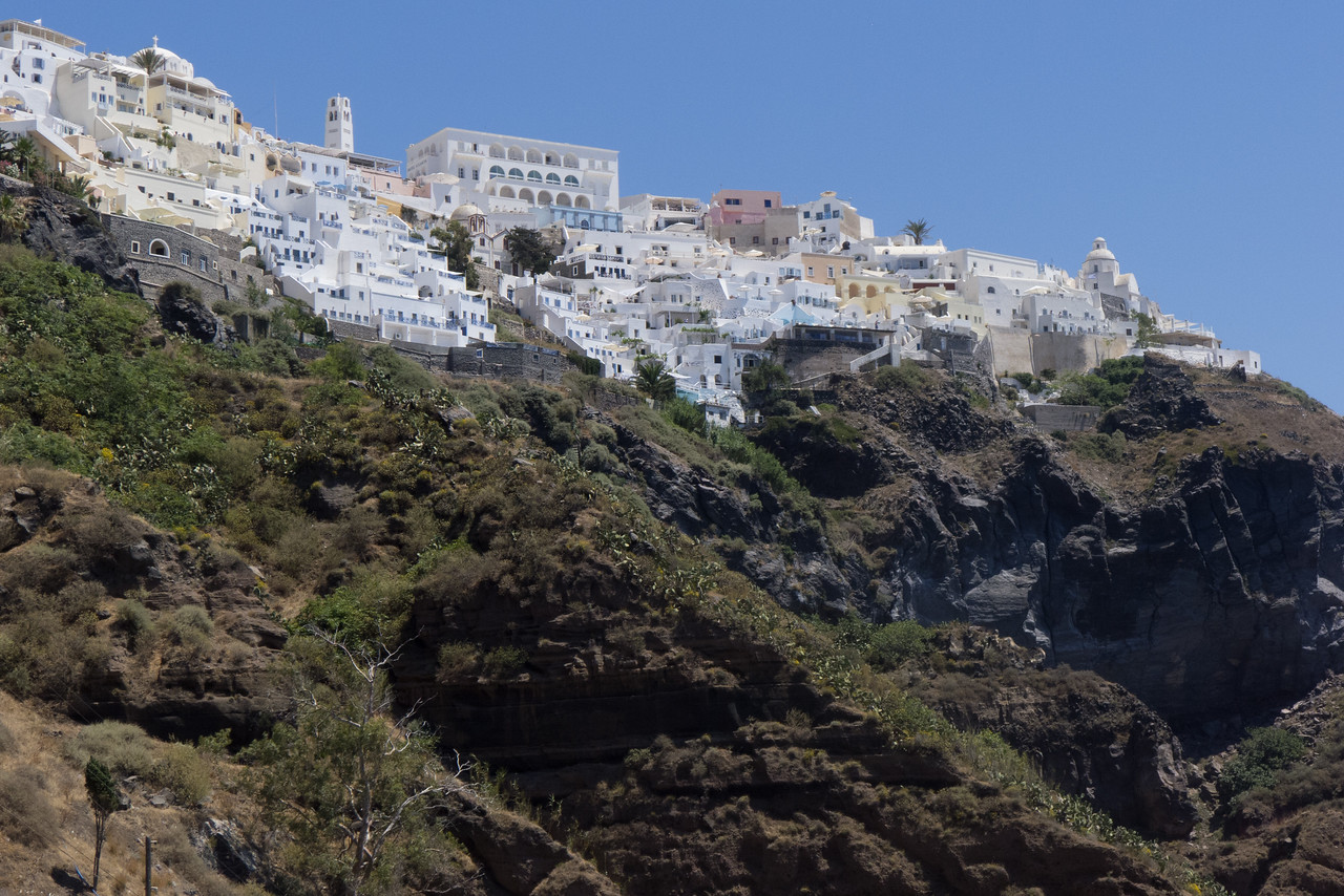 View of Fira from the cable car