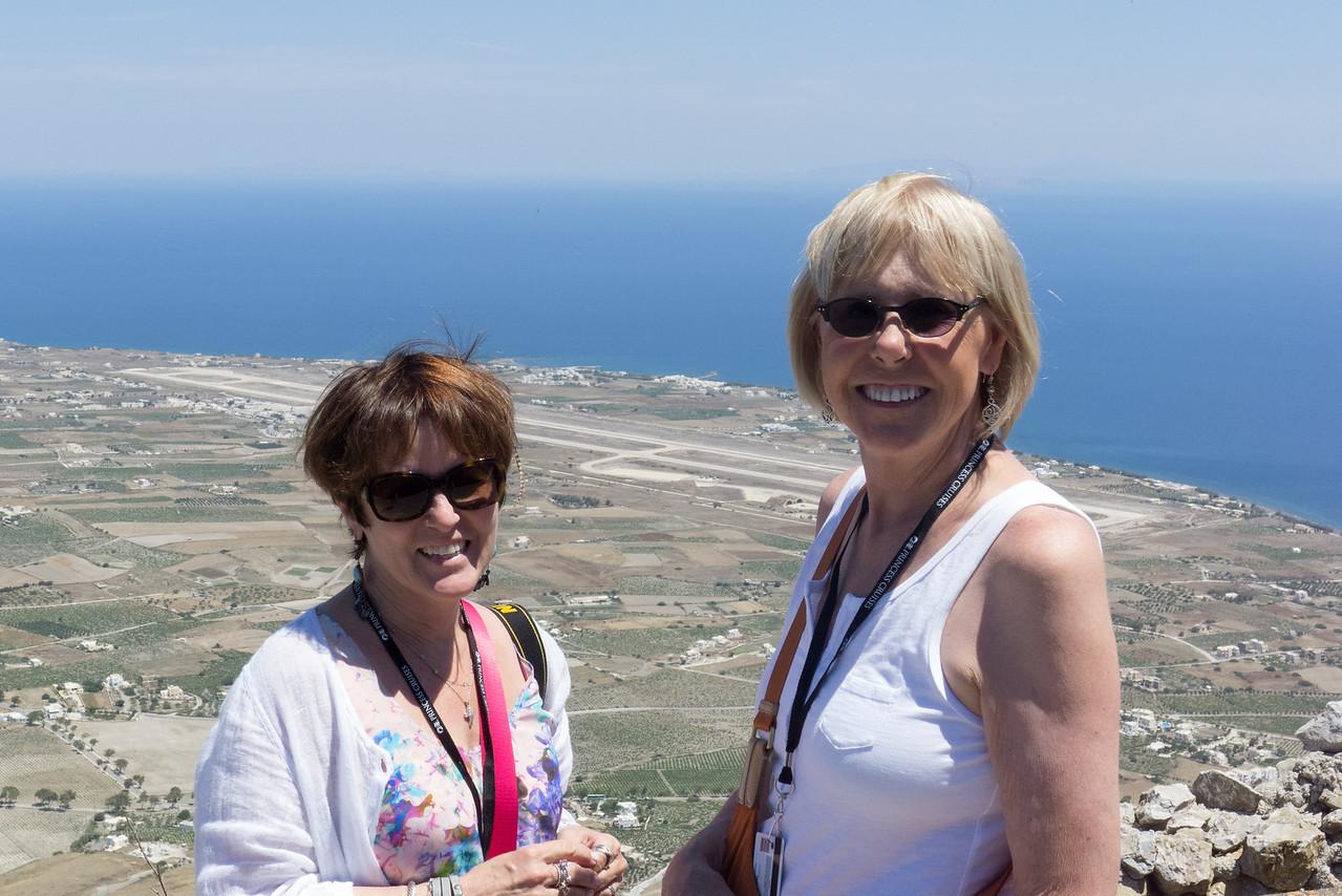 Dava and Deanna atop Mount Prophet Elijah