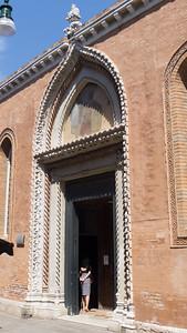 Basilica di Santa Maria Gloriosa dei Frari - side entrance.