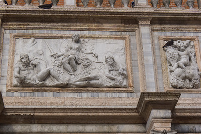 Frieze above the entrance to the Campanile.