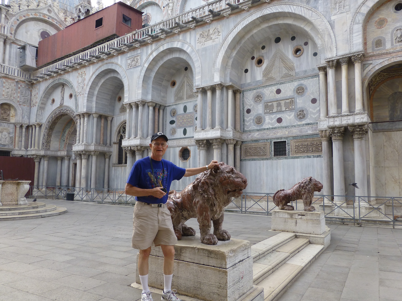 Don with Lions in Piazza San Marco