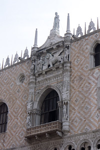 Window of the Ducal Palace (Palazzo Ducale) on Piazza San Marco.