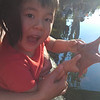 Micah and the star fish at sea world