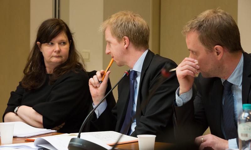 From left: Ms Bergdis Ellertsdottir, Ambassador, Icelandic Mission to the EU, Mr Ragnar  G. Kristjansson, Icelandic Mission to the EU and Andri Juliusson, Icelandic Mission to the EU