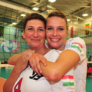 Super 8s All-Star Game - Great Britain All-Stars v International All-Stars, UEL Sportsdock, London.  Ildiko Dobos with her daughter Luca Toth.  © Lynne Marshall