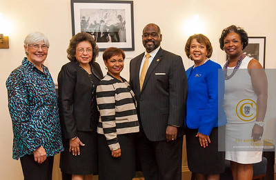 MOD President,  Dr. Jennifer L. Howse, Zeta Phi Beta President, Mary Wright, Jack & Jill of America President, Tamara Robinson, Sigma Gamma Rho President, Bonita Herring and March of Dimes Chair of National Board of Trustees, LaVerne Council.