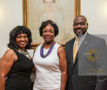 President of CERESE D Jewelry, Deborah Dolman , President Tillman and Chair Council
