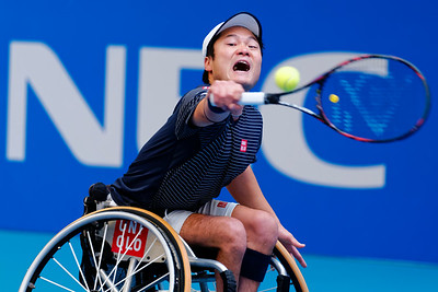 01.01 Shingo Kunieda - finals - NEC wheelchair tennis masters 2014-01.01