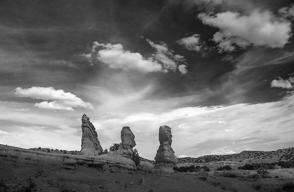 Rock Forms and Clouds, Abiquiu