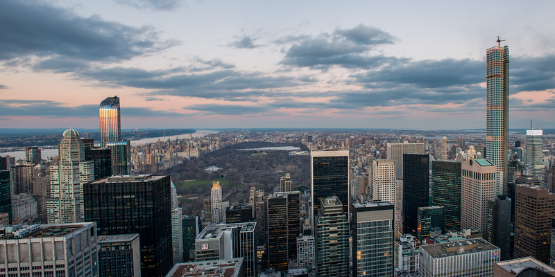 Pano from the 68th floor of the Top of the Rock (GE Building), looking uptown.