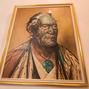 Maori portrait in our hotel.