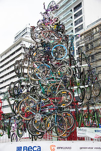 Bicycle Christmas tree.