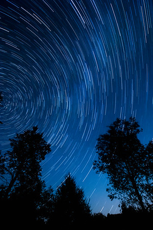 Star Trail at Elton Cabin