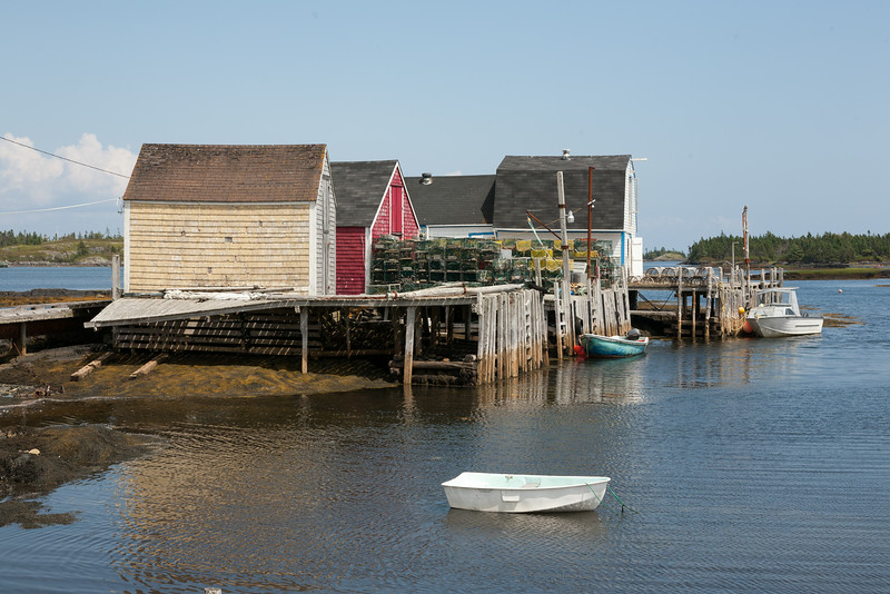 Lobster pots and sheds