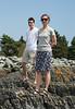 Benjamin and Chantal on the rocks