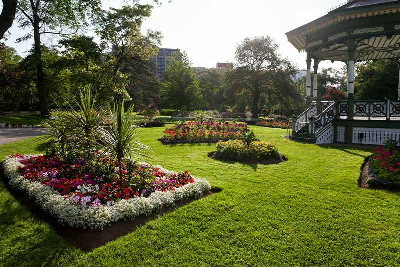 Public Gardens, flowers and bandstand