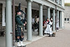"""Citadel, bagpiper and costumed """"residents"""""""
