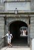 Benjamin at the entrance to the Citadel