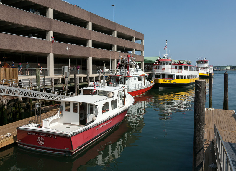 Fire boats and ferries