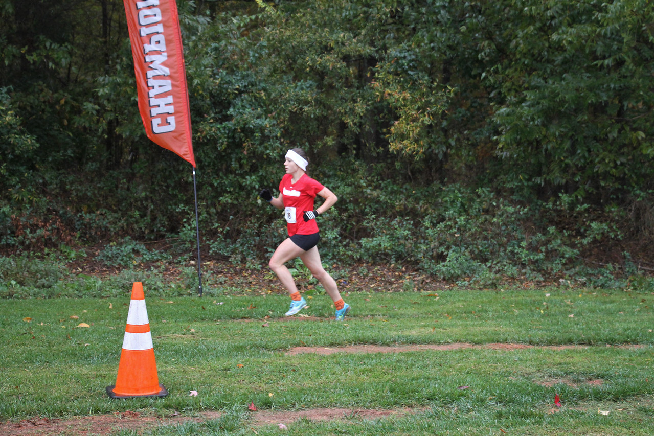 Jenna Ford runs in the Big South Championship